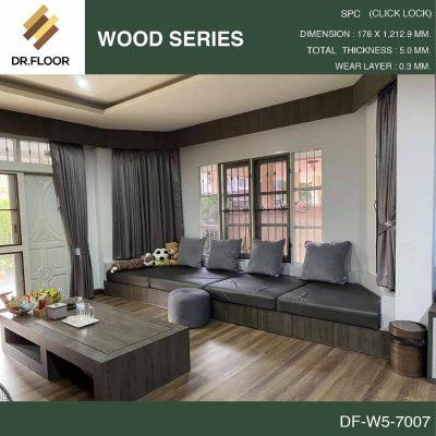 กระเบื้องยาง SPC Dr.Floor รุ่น DF-W5-7007 (บาท/ตร.ม.),พื้น SPC,พื้นสวย,พื้นไม้ไวนิล,พื้นไม้ลามิเนต,พื้นไม้เอ็นจิเนียร์,SCG,UNIX,