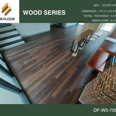 กระเบื้องยาง SPC Dr.Floor รุ่น DF-W5-7005 (บาท/ตร.ม.),พื้น SPC,พื้นสวย,พื้นไม้ไวนิล,พื้นไม้ลามิเนต,พื้นไม้เอ็นจิเนียร์,SCG,UNIX,