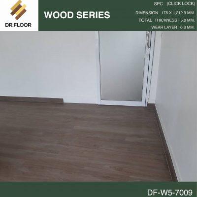 กระเบื้องยาง SPC Dr.Floor รุ่น DF-W5-7009 (บาท/ตร.ม.),พื้น SPC,พื้นสวย,พื้นไม้ไวนิล,พื้นไม้ลามิเนต,พื้นไม้เอ็นจิเนียร์,SCG,UNIX,