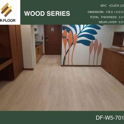 กระเบื้องยาง SPC Dr.Floor รุ่น DF-W5-7010 (บาท/ตร.ม.),พื้น SPC,พื้นสวย,พื้นไม้ไวนิล,พื้นไม้ลามิเนต,พื้นไม้เอ็นจิเนียร์,SCG,UNIX,