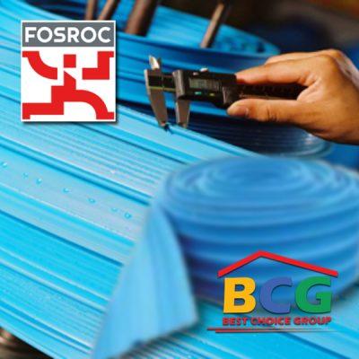 วอเตอร์สต๊อป PVC Waterstops Supercast Hydrofoil ฟอสร็อค - Fosroc